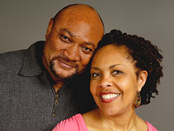 Photo of a couple smiling. Link to Life Stage Gift Planner Under Age 60 Situations.