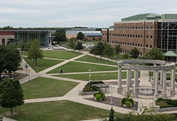 Photo of the UIS campus. Links to Gifts of Cash, Checks, and Credit Cards